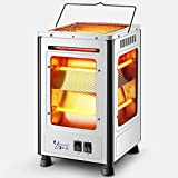Infrared Quartz Space Heater, Portable Electric Barbecue Heater Fireplace Stove, Heater with 5-Sided