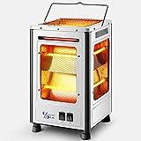 Appareil de chauffage à infrarouge à quartz, poêle de cheminée, appareil de chauffage pour barbecue électrique portable, appareil de chauffage avec interrupteurs de commande indépendants à 5 faces pou