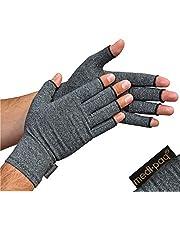 Medipaq® Artritishandschoenen (1 Paar) - Vingerloze Handschoenen die Warmte en Compressie Geven voor Circulatieverbetering, Pijnvermindering, Ondersteuning en Genezingsbevordering