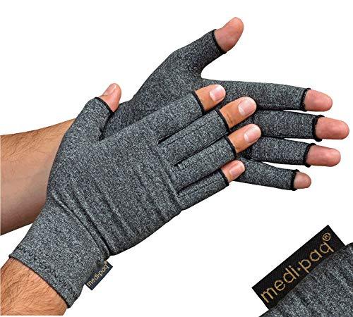 Guantes Anti-Artritis Medipaq (Par) – Ofrecen Calor Y Compresión Para Ayudar A Aumentar La Circulación Reduciendo El Dolor Y Promover La Sanación (1 Par (Pequeño))
