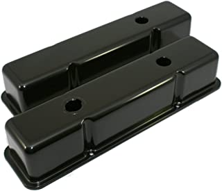 Assault Racing Products A9519BK Small Block Chevy Black Tall Steel Valve Covers with Oil Cap Hole SBc 283 305 327 350 400