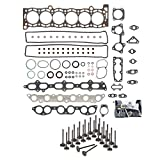 Evergreen HSIEV2023 Head Gasket Set Intake Exhaust Valves Compatible with 86-92 Toyota Celica Supra 3.0 7MGE