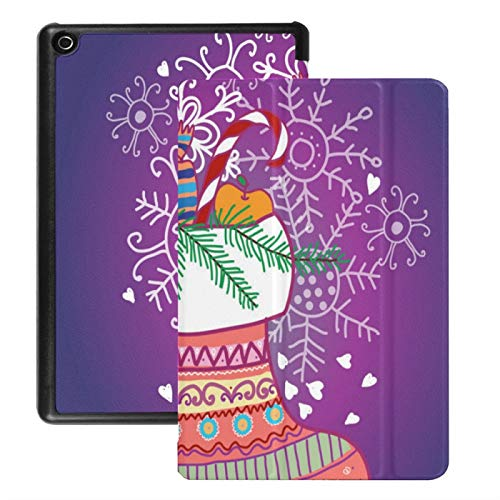 Case For Fire Hd 8 Tablet (2018/2017/2016 Release),Xmas Sock Case Cover With Auto Wake/sleep