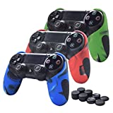 Skin Compatible for PS4 Controller Pandaren Soft Silicone Thicker Half Skin Cover Grip for PS4 /Slim/PRO...