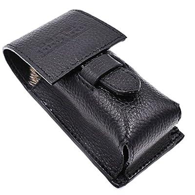Parker Safety Razor Genuine Leather Shaving Brush Protective/Travel Case