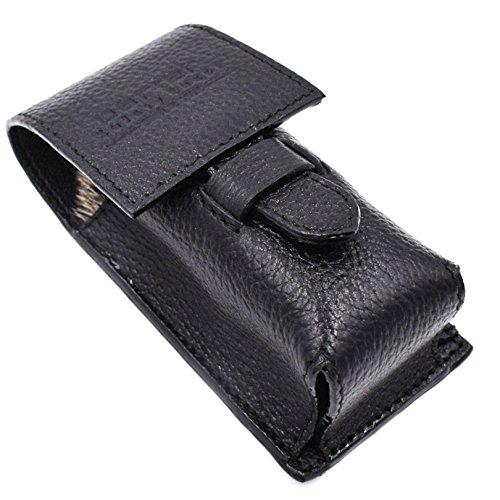 Parker Safety Razor Echtes Leder Rasierpinsel Schutz- / Reiseetui