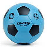 Chastep 7' Foam Soccer Ball Perfect for Kids or Beginner Play and Excercise Soft Kick & Safe,Blue/Black
