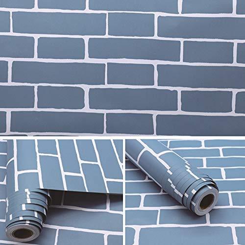 Chinese retro simulatie baksteen patroon rood baksteen blauw baksteen papier zelfklevende slaapkamer woonkamer muur stickers behang