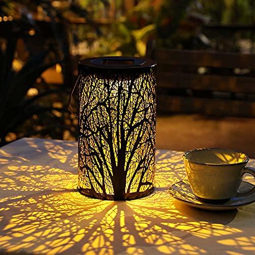 KSSTOO Linterna Solar al Aire Libre Impermeable al Aire Libre Linterna LED Solar luz lámpara de araña de jardín Solar decoración para jardín césped terraza Fiesta al Aire Libre Navidad