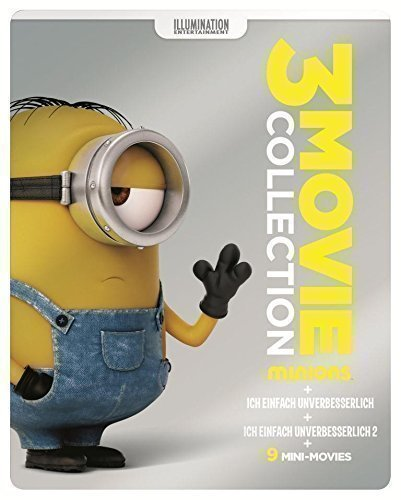 Minions 3 Movie Collection - Limited Edition Steelbook (3 Discs) Blu-ray Disc