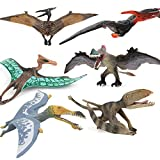 6 PCS Realistic Dinosaur Model Playsets Pterodactyl Figure Flying Pterosaur Figurines Pteranodon Model Toys Collection Party Favors Supplies Cake Toppers Set Toys for Boys Girls Kids
