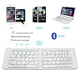 Rii K09 Teclado plegable Bluetooth para iOS, Android, Windows, PC, Tablets y Smartphones. Color Plateado