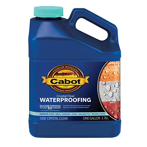 Cabot 31243 Crystal Clear Waterproofing Stain, 1 Gallon