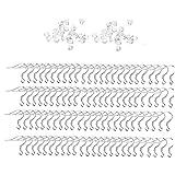 fedsjuihyg Pendiente de Bricolaje Cables Gancho para la Oreja Gancho del Pendiente del Gancho del oído del Pendiente de DIY DIY joyería Que Hace la Herramienta 200PCS Arte Hecho a Mano