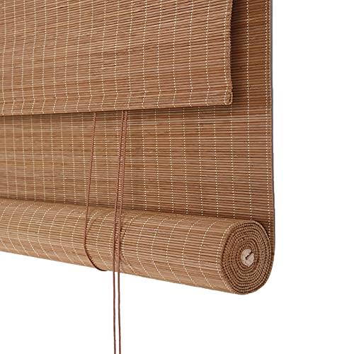 JXQ Privacidad Blackout Roller Shades, Ventana de bambú Interior Enrollable, Tonos de Rodillo de filtrado Ligero, decoración Retro, Aislado térmico, división de balcón (Size : W80*H110cm/32 * 43in)