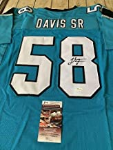 Thomas Davis Sr Autographed Signed/Autographed Signed Jersey Memorabilia JSA Carolina Panthers Georgia