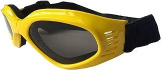 犬用ゴーグル、ペット用メガネ、折りたたみ式ペット用犬用サングラスUV保護メガネ防風用サンペット用犬用メガネ,Yellow