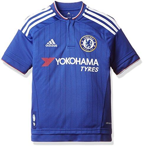 adidas Jungen Kurzarm Heimtrikot FC Replica S11681, blau (Chelsea Blue/White/Power Red), 164 (13-14 Jahre)