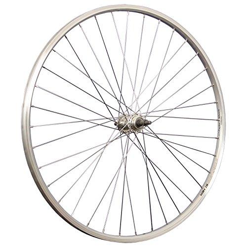 Taylor-Wheels 28 Pollici Ruota Posteriore Bici YAK19 Ruota Libera 622-19 Argento