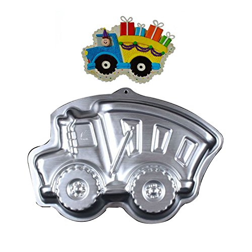 WOTOY 13 inch 3D Truck Aluminum Cake Baking Pan Mold