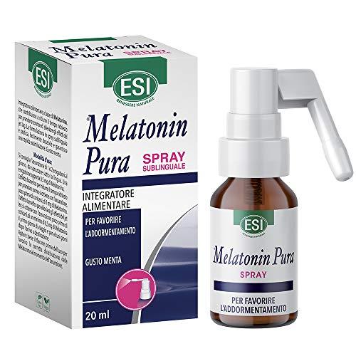 ESI Melatonin Pura Spray Sublinguale | Integratore Alimentare Per Favore L'Addormentamento | Gusto Menta