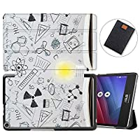MAITTAO Slim Folio Shell For ASUS ZenPad 8.0 Z380M Case 2015 Release, Magentic Smart Stand Cover with Wake/Sleep for ASUS ZenPad 8 Z380C / Z380KL 8-Inch Tablet Sleeve Bag 2 in 1, Flowers & Leafs 6