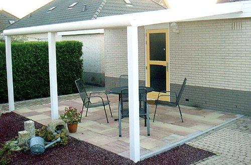 ALU Terrassenüberdachung 700x400cm wahlweise in 3 Farben Montagefertig Überdachung Vordach Überdachung Aluminium Terrasse