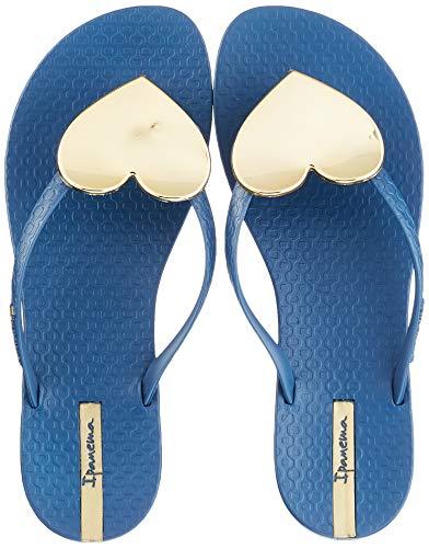Ipanema Maxi Fashion II Fem, Chanclas Mujer, Multicolor (Blue/Gold 9218.0), 41/42 EU