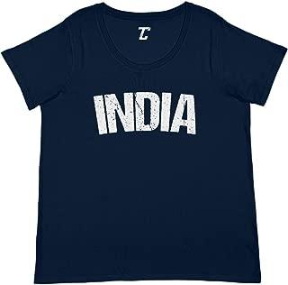 India - Soccer Futbol Sports Women's Curvy T-Shirt