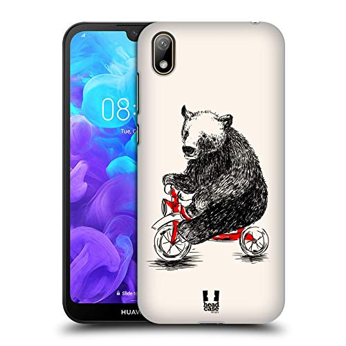 Head Case Designs Bear Animals On Bikes Hard Back Case Compatible for Huawei Y5 (2019)