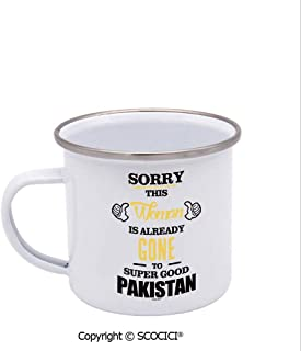 SCOCICI Unique Design Print Enamel Cup Sorry This Woman Is Already Gone To Super Good Pakistan Coffee Mug Stainless Steel Enamel Tea Cup White 12 oz