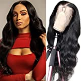 Body wave Lace Front Wigs Human Hair 13x4 Lace Frontal Wig 150% Density Pre Plucked With Baby Hair Brazilian Virgin Lace Front Wig Human Hair for Women Natural Black Color (20 Inch)