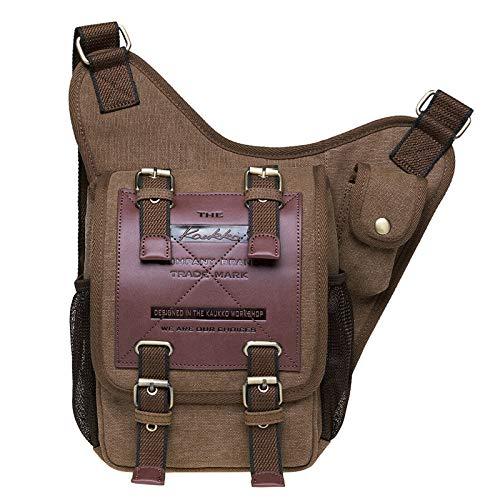 Mens Boys Vintage Canvas Shoulder Military Messenger Bag Sling School Bags...
