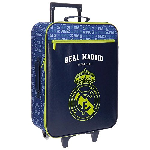 Real Madrid 5649152 Basic Equipaje Infantil, 52 cm, 26 litros, Multicolor