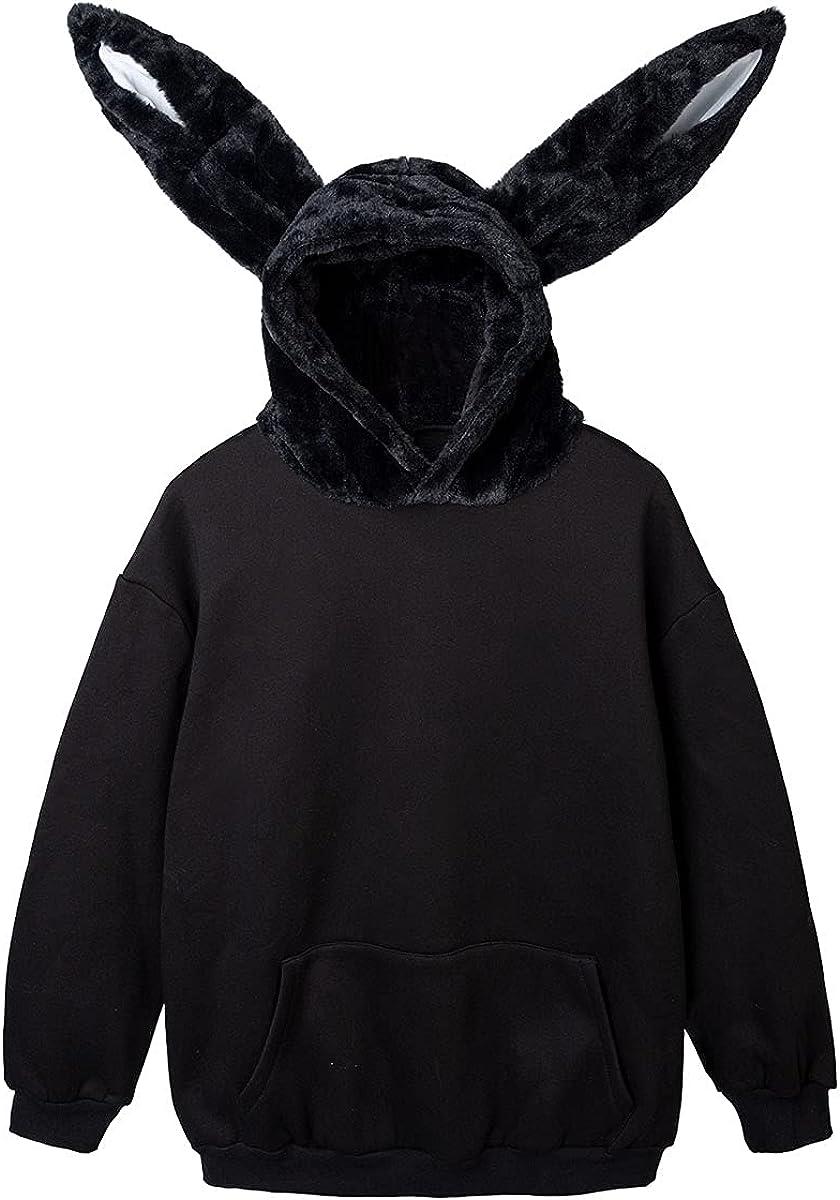 Super-cheap Cosfun Rabbit Ears Oversize Brushed Hoodie Sweatshirt Pullover m NEW