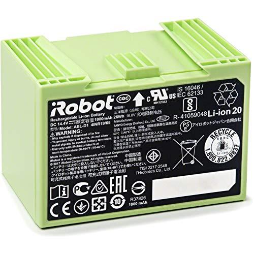 iRobot Batería de Iones de Litio Piezas Originales, Compatible con Roomba Serie E/I 26W Verde