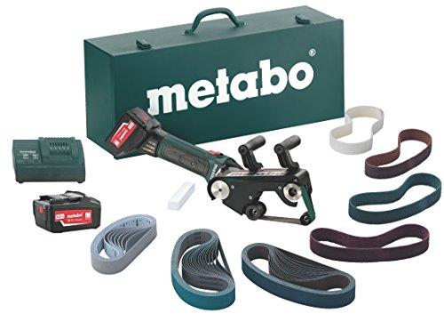 Metabo RB 18 LTX 60 Set - Lijadora de banda para tubos a batería 18v 5,2 Ah,...