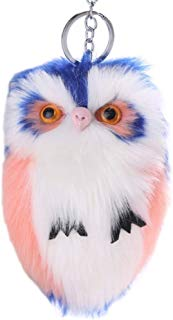 Cute Artificial Fur Fluffy Owl Pendant Keyring Keychain Car Bag Hang Decoration GlobalDeal