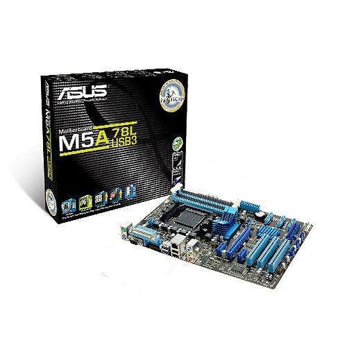 Asus M5A78L/USB3 Mainboard SocketAM3+ (ATX AMD 760G/780L, 4x DDR3 Speicher, 2x USB 2.0)