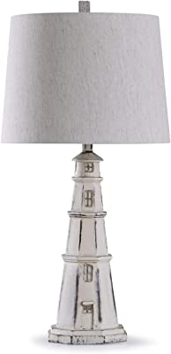 Cape Hatteras Lighthouse Table Lamp With Linen Shade
