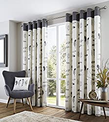 Stunning feather motifs adorn this striking matching curtain and cushion design in Charcoal theme. Fusion offers an affordable collection of fashion bed linen, cushions and curtains will brighten up any room at prices which will suit any pocket. Size...
