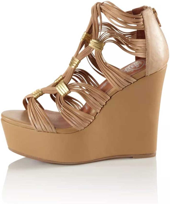 Jeffrey Campbell Damen Designer-Sandalette, Beige