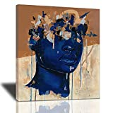 African American Wall Art Painting Black Woman Fashion Poster, Canvas Graffiti Design Abstract Modern Home Prints Picture Artwork Stretched And Framed Ready To Hang For Living Room Bedroom 20x24inch