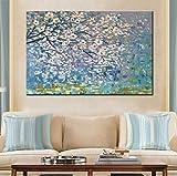 Pintura Al Óleo Flores Árbol Abstracto Moderno Pintura Al Óleo Sobre Lienzo Pared Arte Pared Cuadros Para Sala En Vivo Decoración Del Hogar-50cmx65cm
