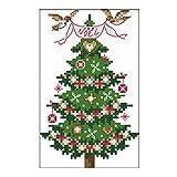 Hergon 14CT - Kit de punto de cruz, diseño de árbol de Navidad