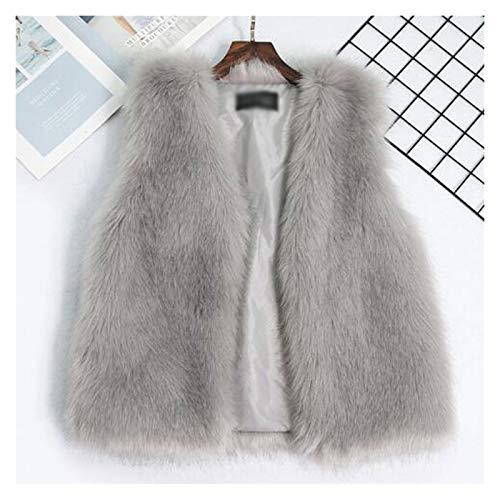 Chaleco sin mangas acolchado ligero de algodón Gruesa Hairy visón Prendas de abrigo corto sin mangas del chaleco del botón del bolsillo de la chaqueta caliente suelta del chaleco del suéter Calentador