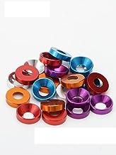 Verzonken hoofd ringen aluminium platte kop wasmachine pakking M2 M2.5 M3 M4 M5-CN, M4,30 stuks, paars