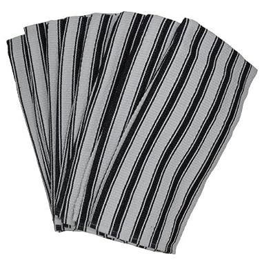 Nouvelle Legende Basketweave Woven Cotton Absorbent Kitchen Towels Machine Washable 19 X 29 in Set of 8