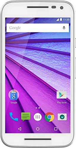 Motorola Moto G 3. Generation Smartphone (12,7 cm (5 Zoll ) Touchscreen-Display, 8 GB Speicher, Android 5.1.1) weiß