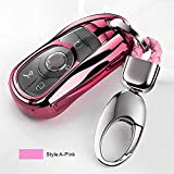 Gflyme 1 Set Anti-Cero tecla Suave TPU de la Cubierta del Protector de Shell Llavero Accesorio for Opel Astra for Buick Encore Envision Lacrosse (Color : Pink A)